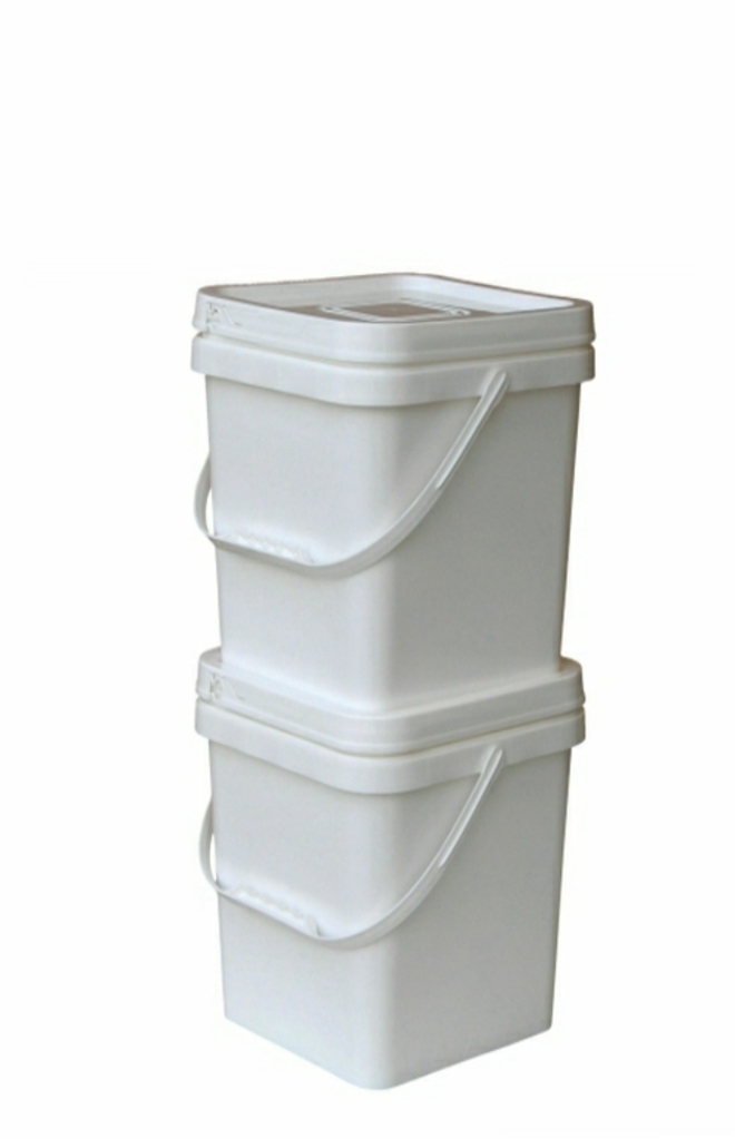 12.5 Litre Square Pail Base and T/E Lid image 0