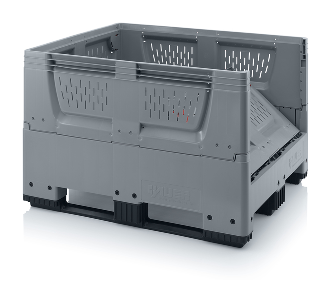 670 Litre Collapsible Pallet Bin Vented with Skids image 1