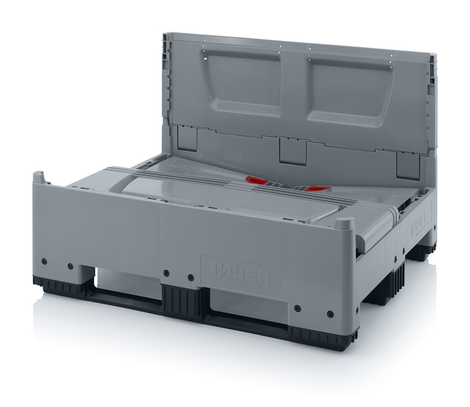 670 Litre Collapsible Pallet Bin Solid with Skids image 4