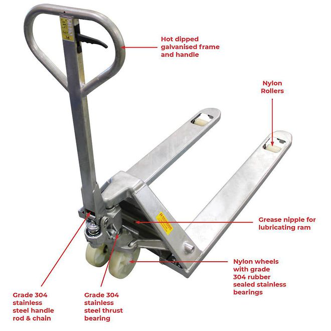 Galvanised 2 Way Entry Pallet Truck image 1