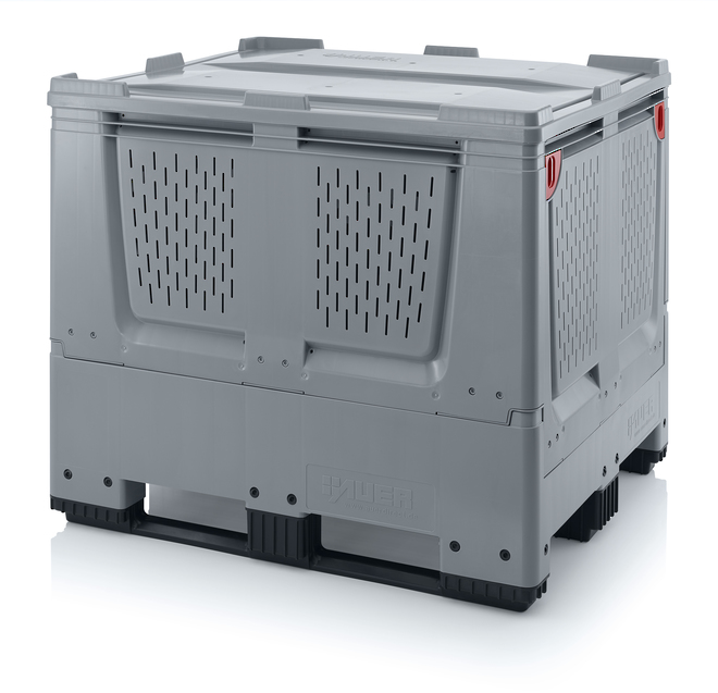900 Litre Collapsible Pallet Bin Vented with Skids image 6