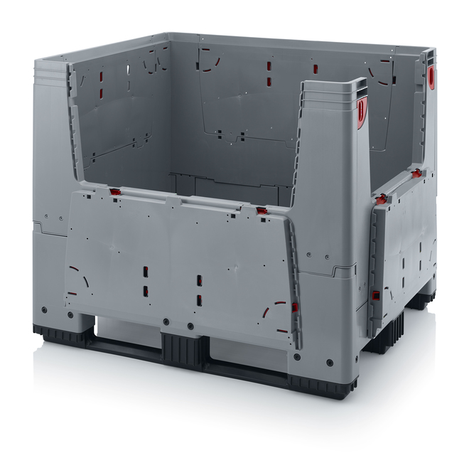 900 Litre Collapsible Pallet Bin  Solid with Access Doors image 2
