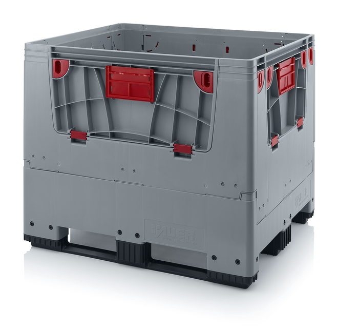 900 Litre Collapsible Pallet Bin  Solid with Access Doors image 0