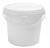 Click to swap image: COPACK Round Tab-Pail 2 Litre White T/E Base & White Lid