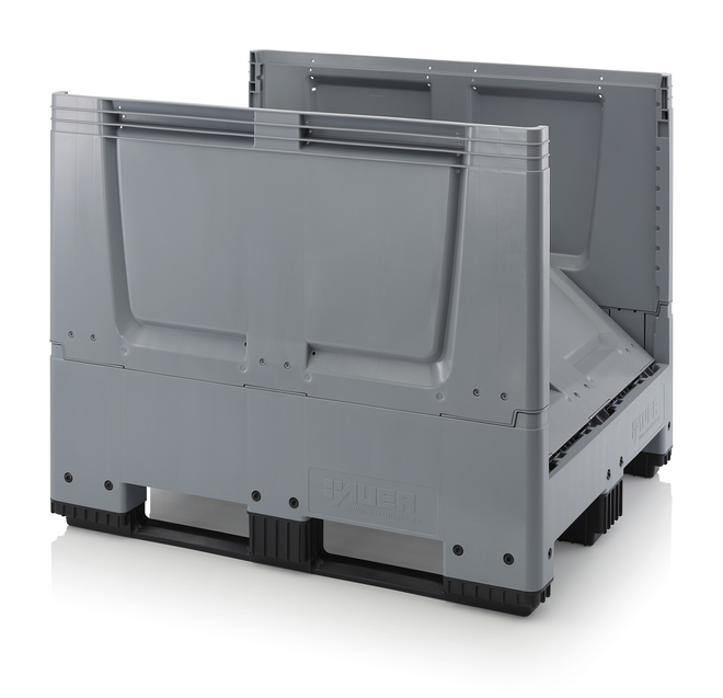 900 Litre Collapsible Pallet Bin  Solid with Skids image 2