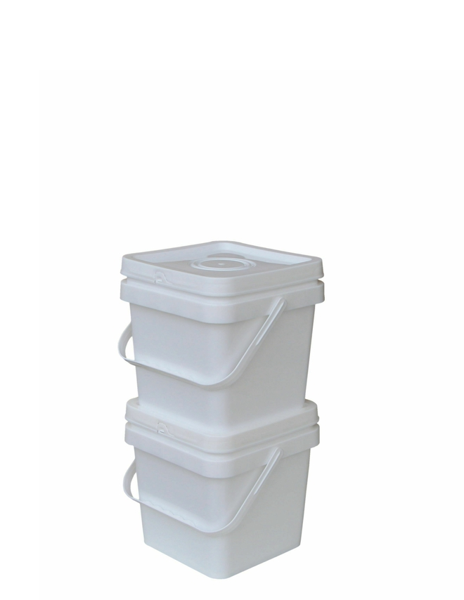 3 Litre Square Pail Base and T/E Lid image 0