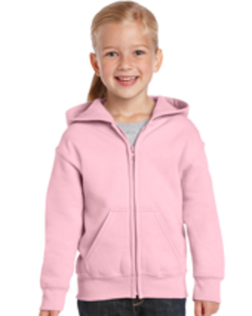 CDG18600B - Heavy Blend Youth Full Zip Hooded Sweatshirt image 0