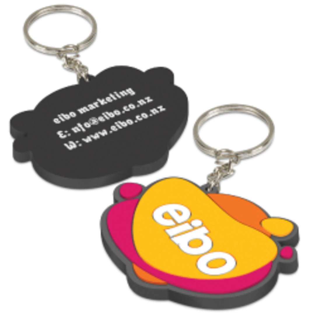 PVC Key Ring Small - One Side Moulded image 0