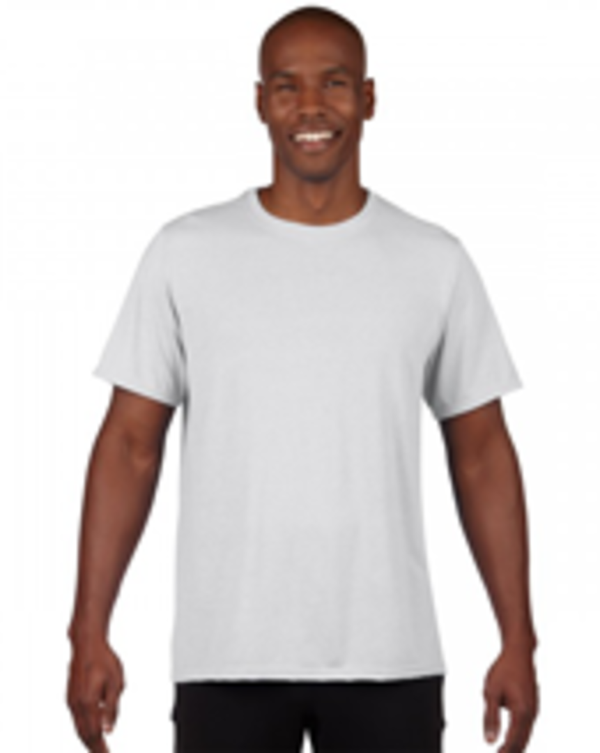 White Performance Adult T image 0