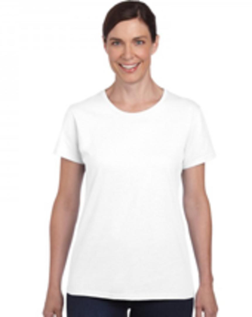 White Heavy Cotton Missy Fit T image 0