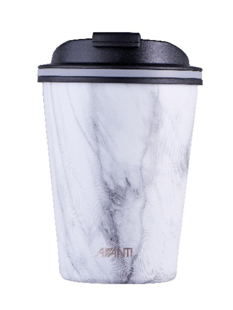 Avanti Double Wall Go Cup - White Marble image 0
