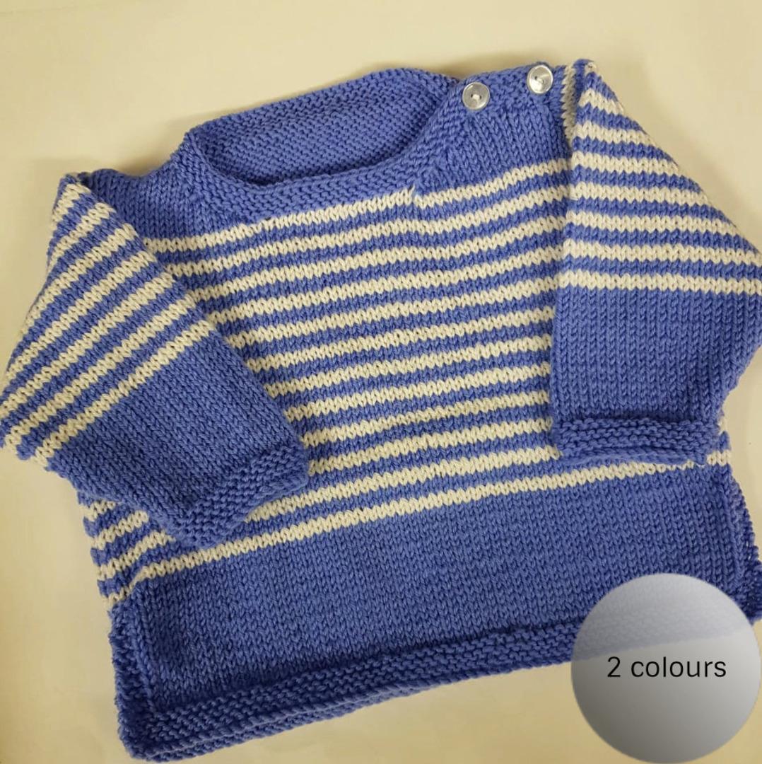 Merino Wool Baby Knit Jersey. 0 - 3 months. image 0