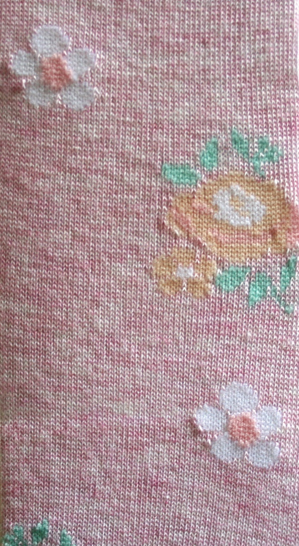 Cotton Tights - Soft Flower image 1