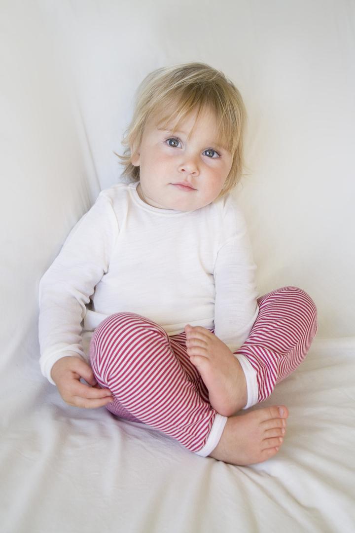 Merino Wool Baby Top - plain image 0