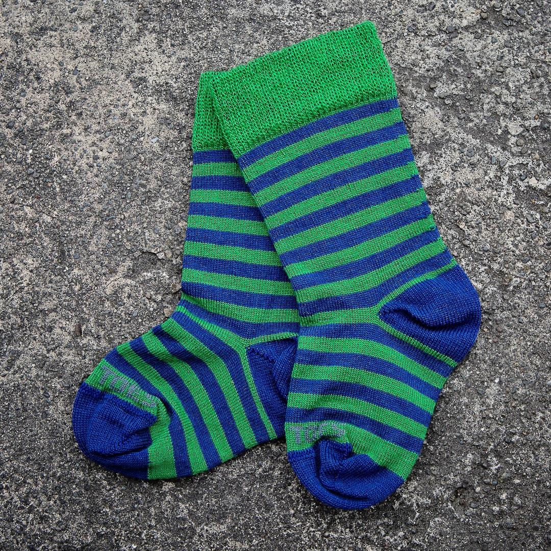 Long Merino Stripe Baby Socks image 1