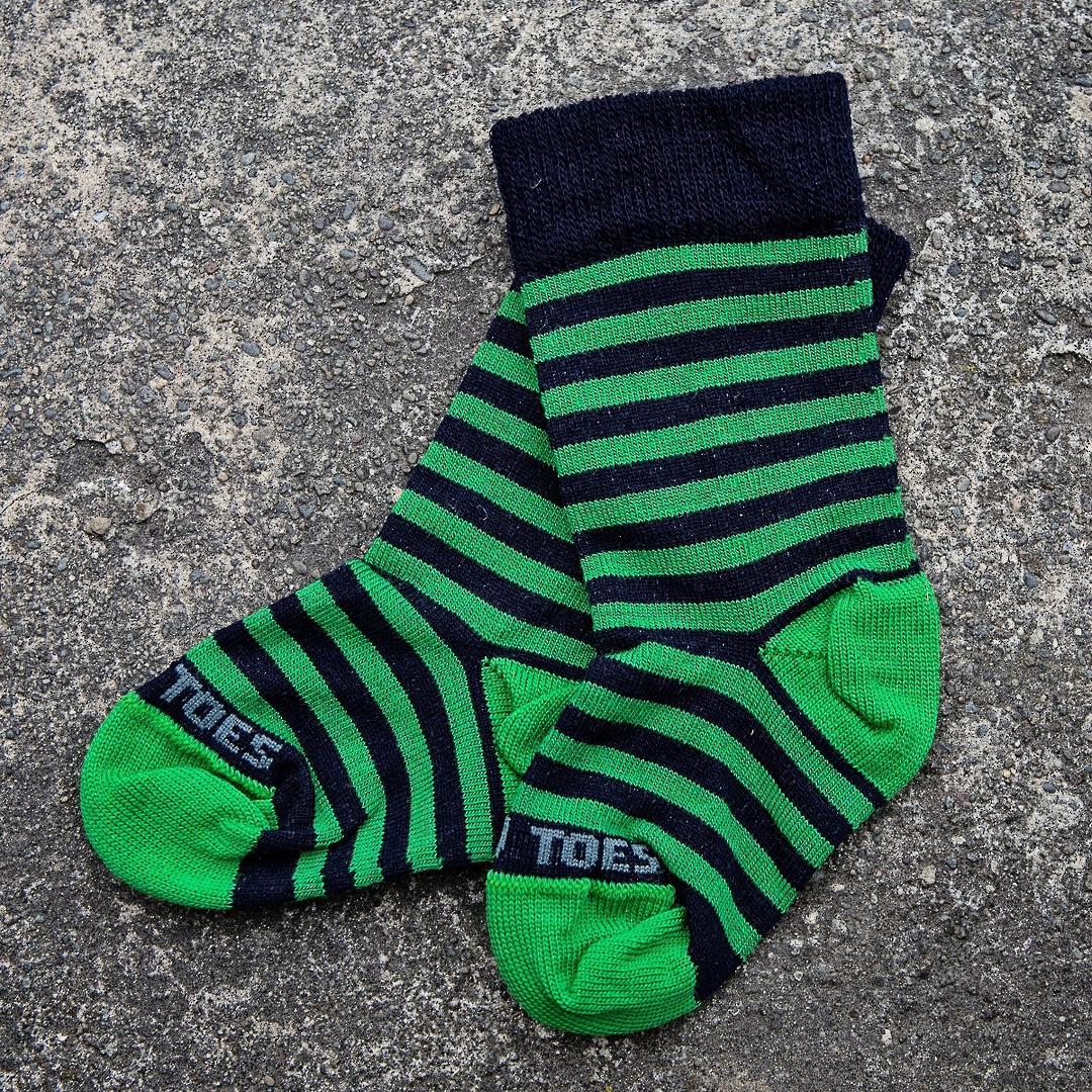 Long Merino Stripe Baby Socks image 2
