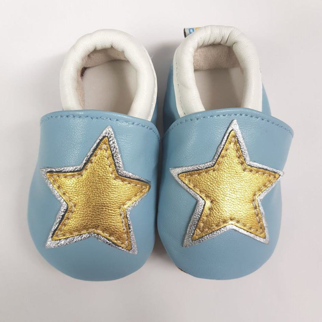 Star Leather Baby Shoes image 0