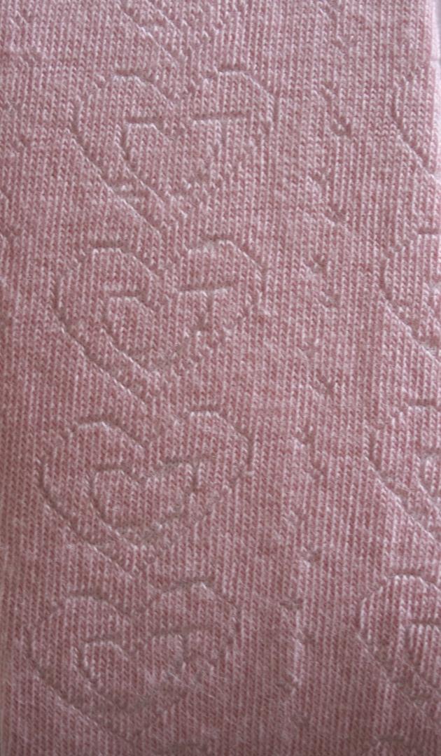 Cotton Tights - Textured Heart image 1