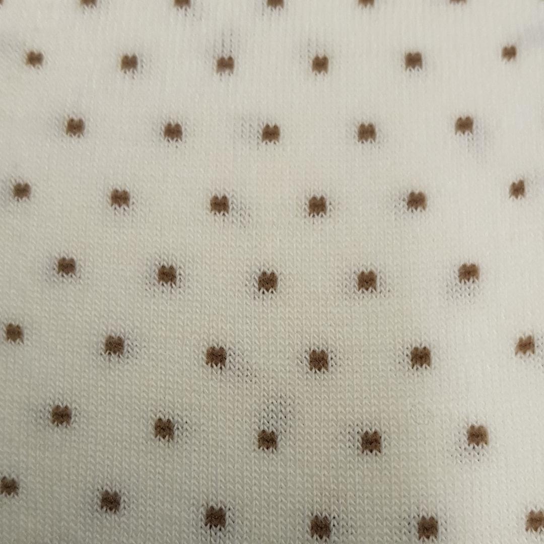 Merino Tights - Cream Polka Dot image 1