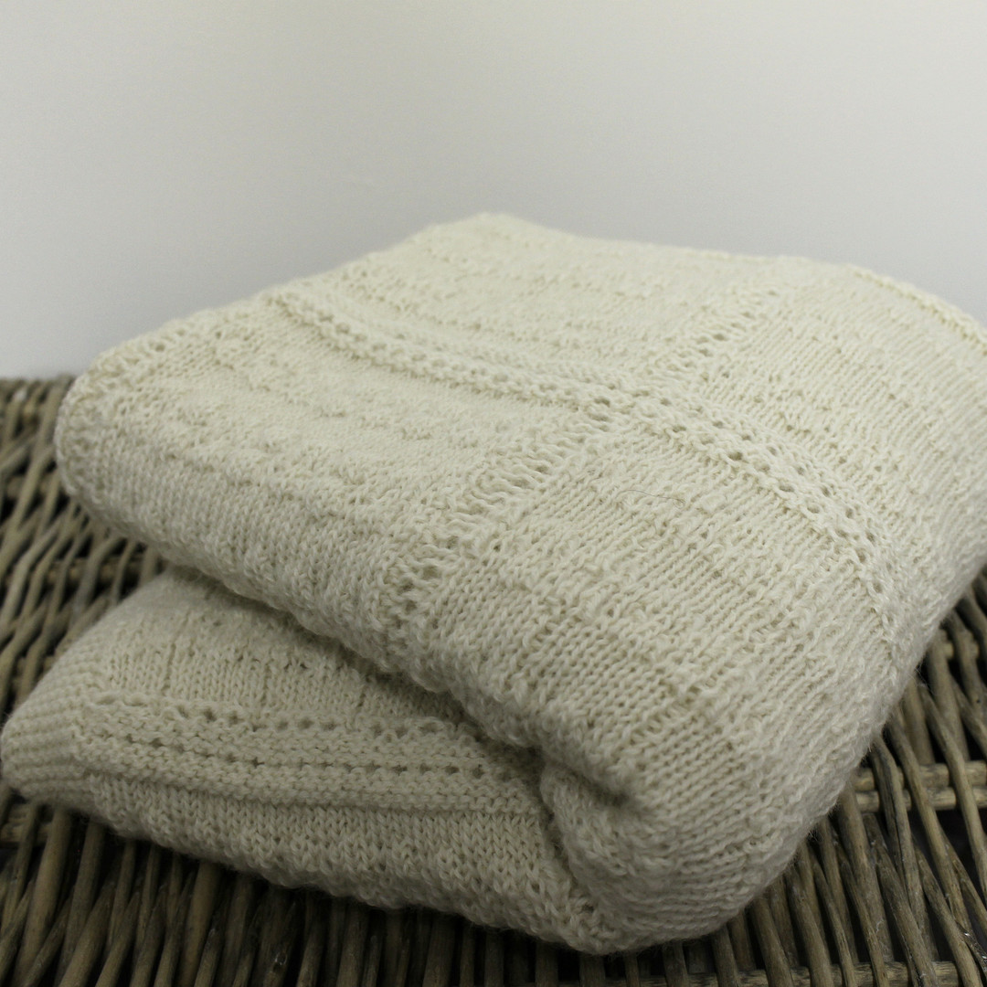 Natural Baby Shawl or Wrap - Alpaca image 0