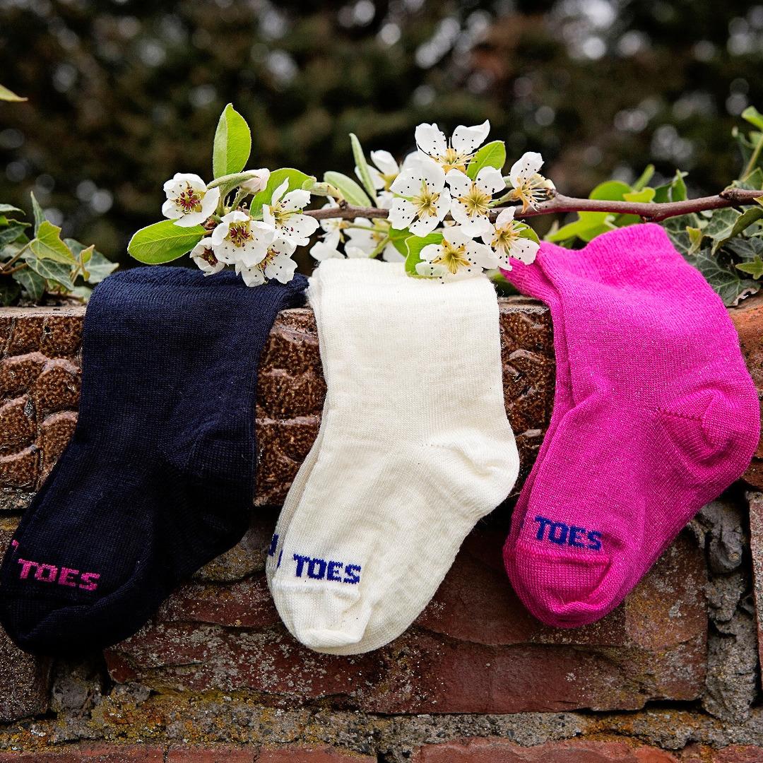 Long Baby Socks - Plain Colours image 0