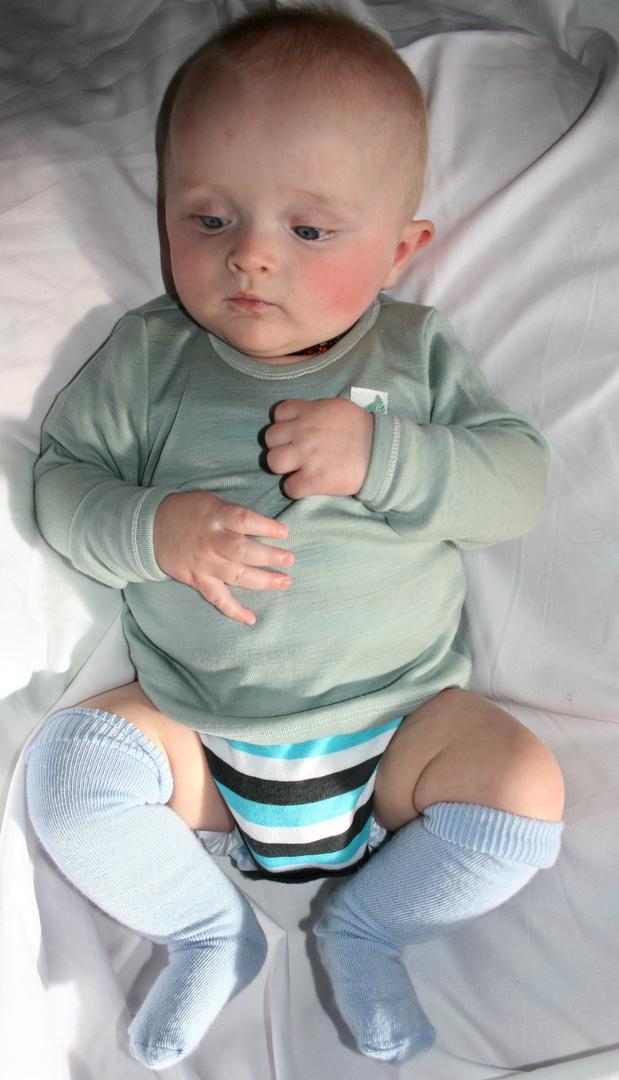 Merino Wool Baby Top - plain image 2