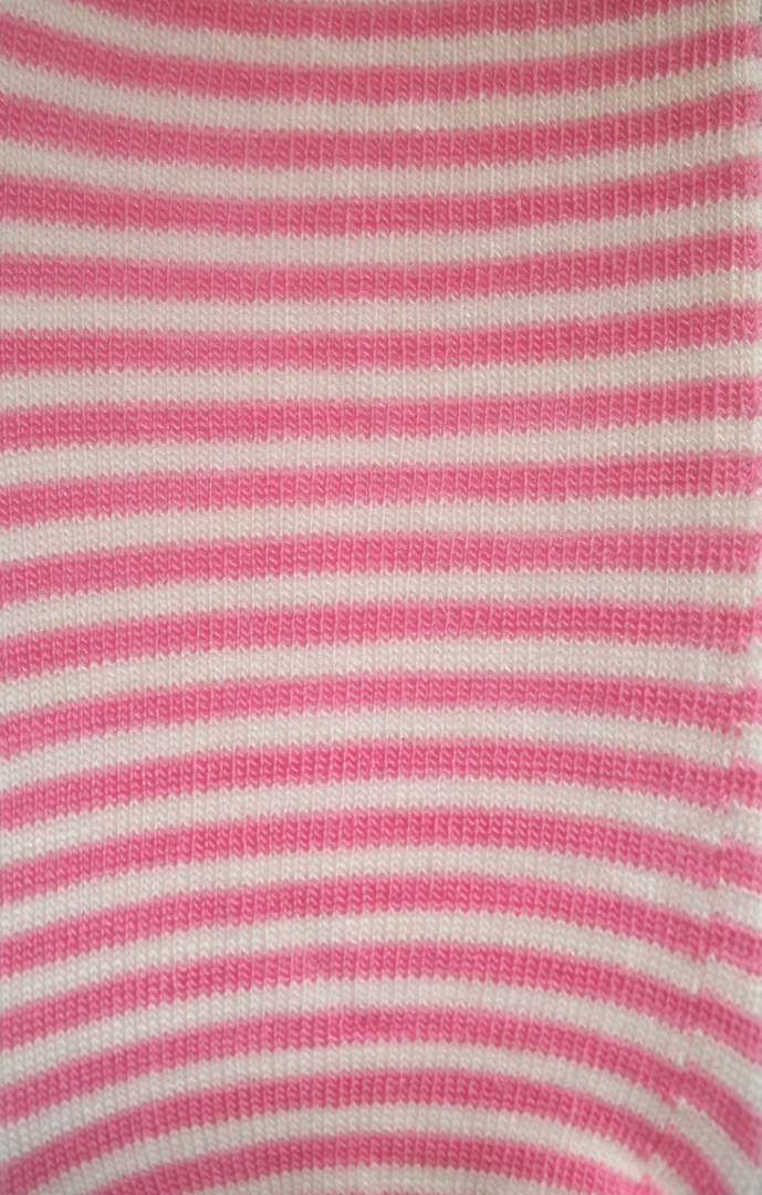 Merino Wool Tights - Rose Stripe image 2
