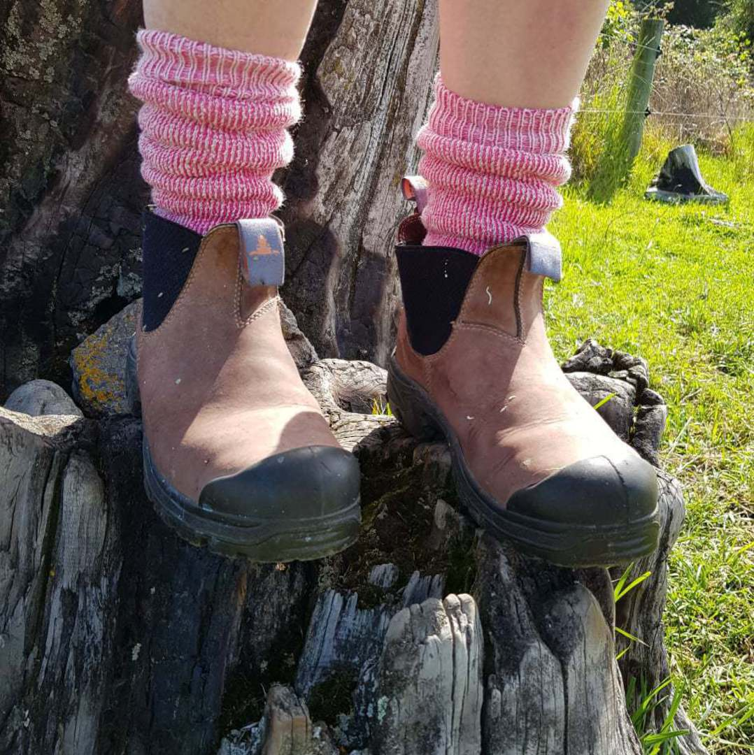 My Work Socks - Pink & Purple - shoe size 4-9 only. image 2