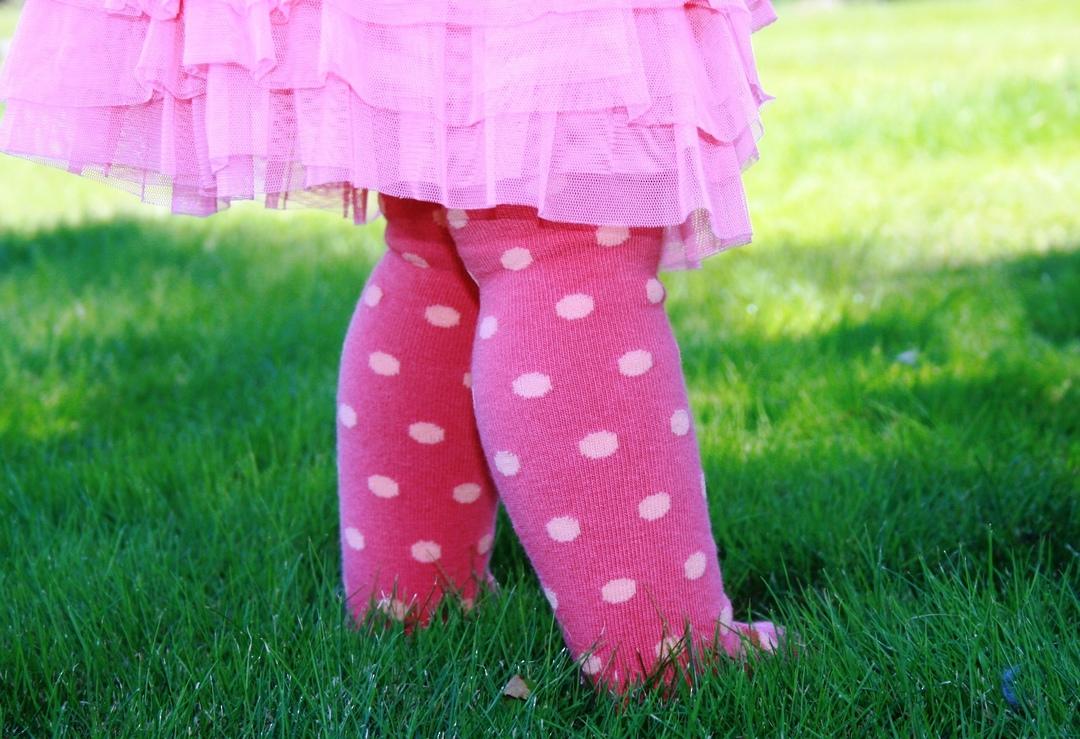 Cotton Tights - Polka Dot image 1