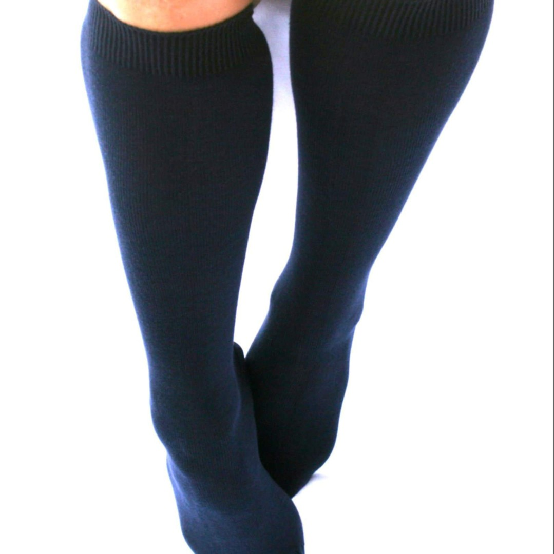 Knee High Merino Socks - adult sizes image 1