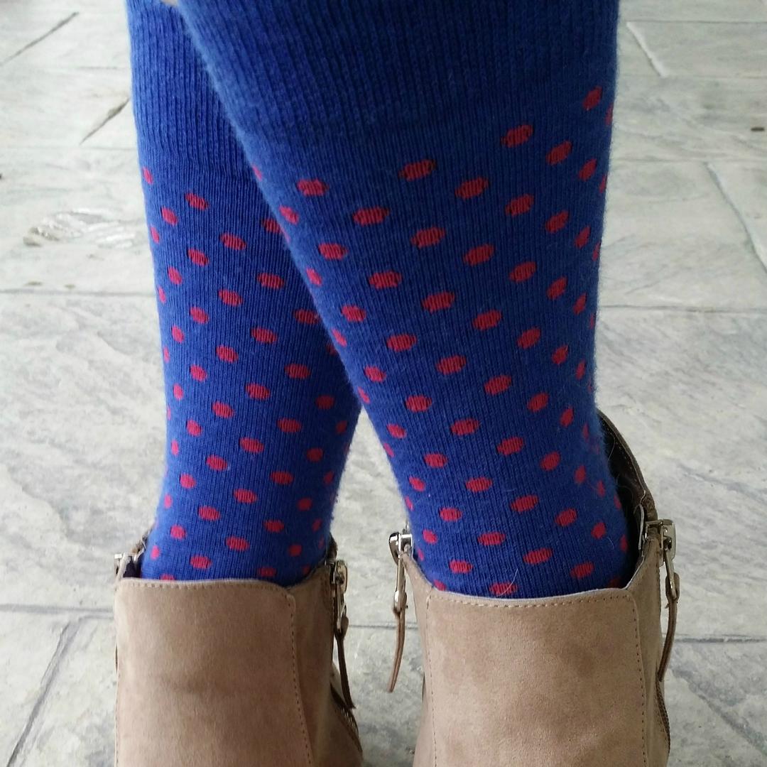 Polka Dot Merino Crew Socks image 3