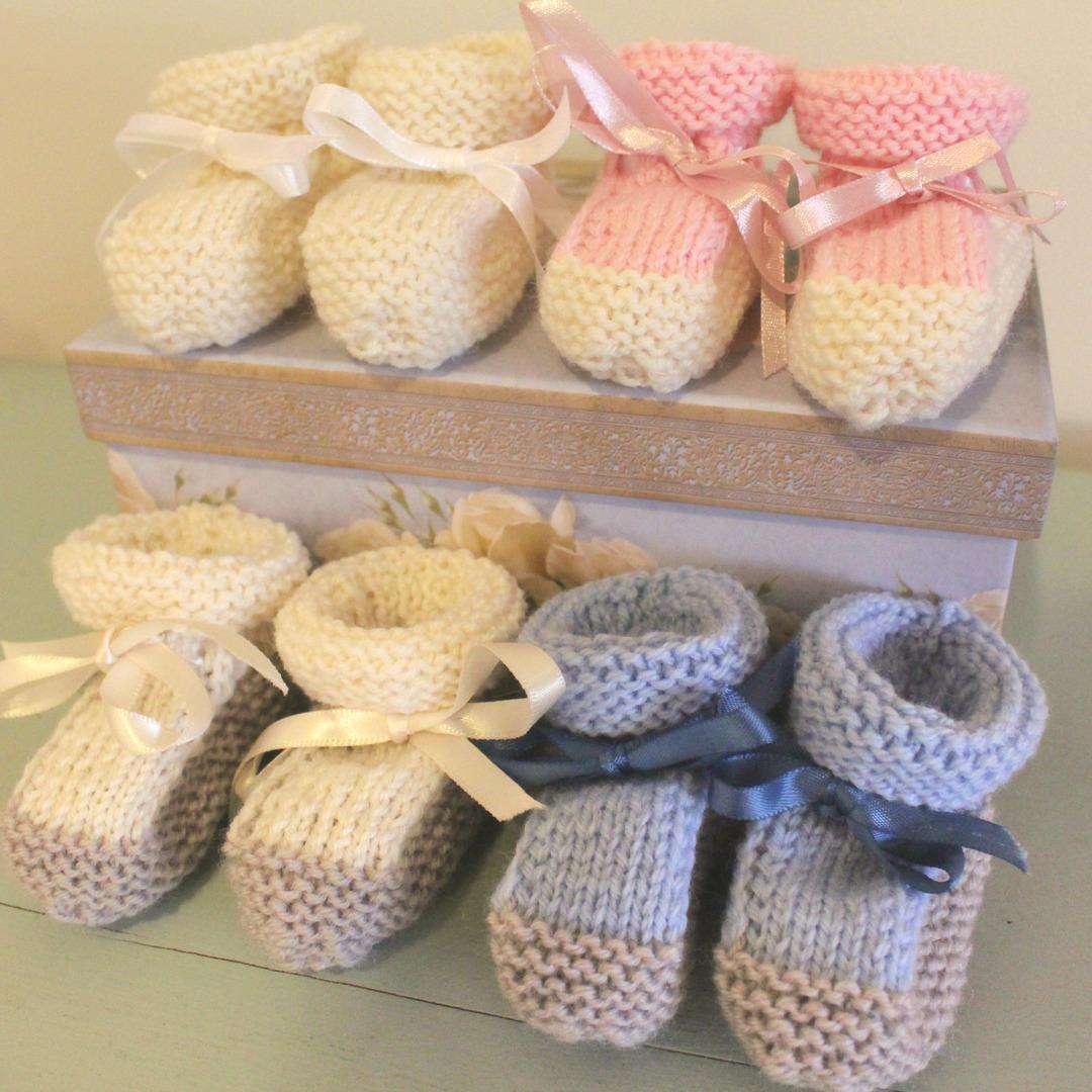 Merino Wool Booties - newborn to 6 months. image 1