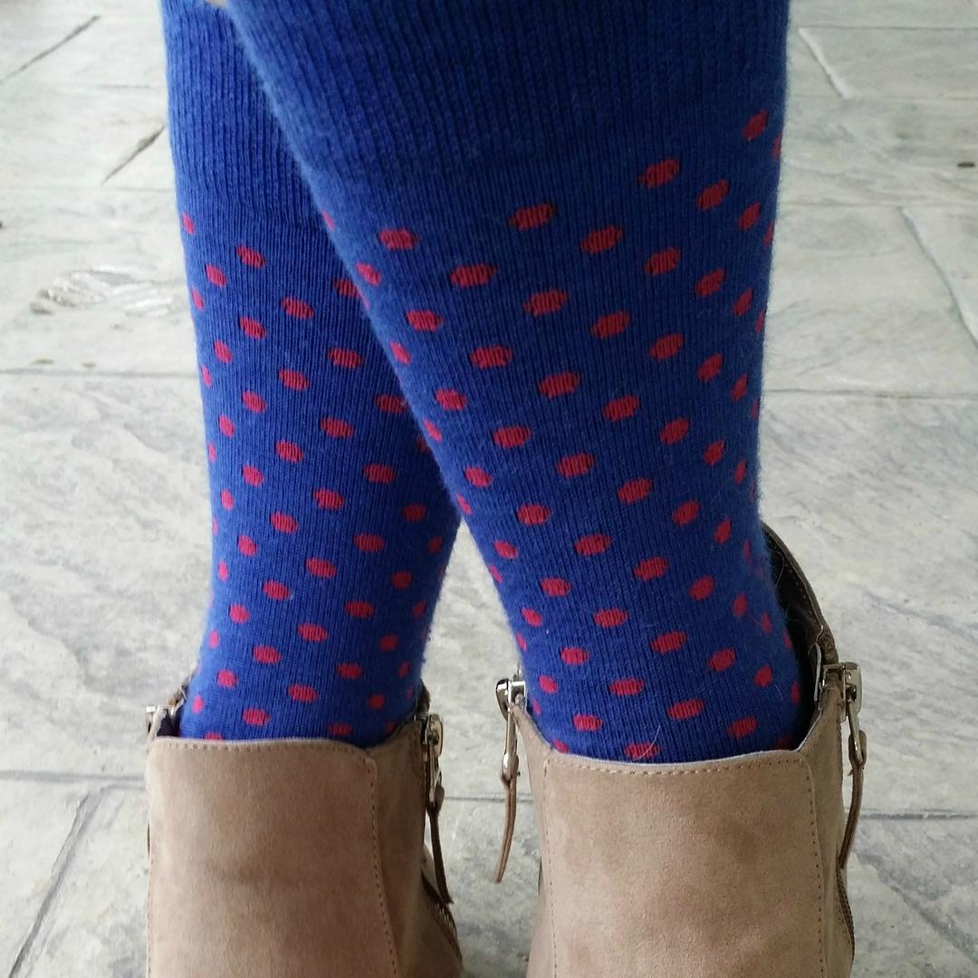 Polka Dot Merino Crew Socks - Unisex image 3