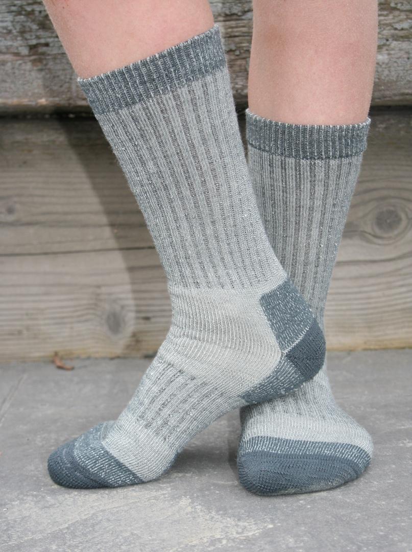 Boot or Gumboot Merino Wool Socks - Children, Small Adult & Womens - 2 pairs image 1