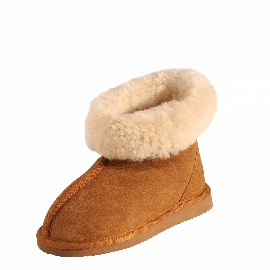 Natural Sheepskin Wool Slippers in Children's Sizes image 0