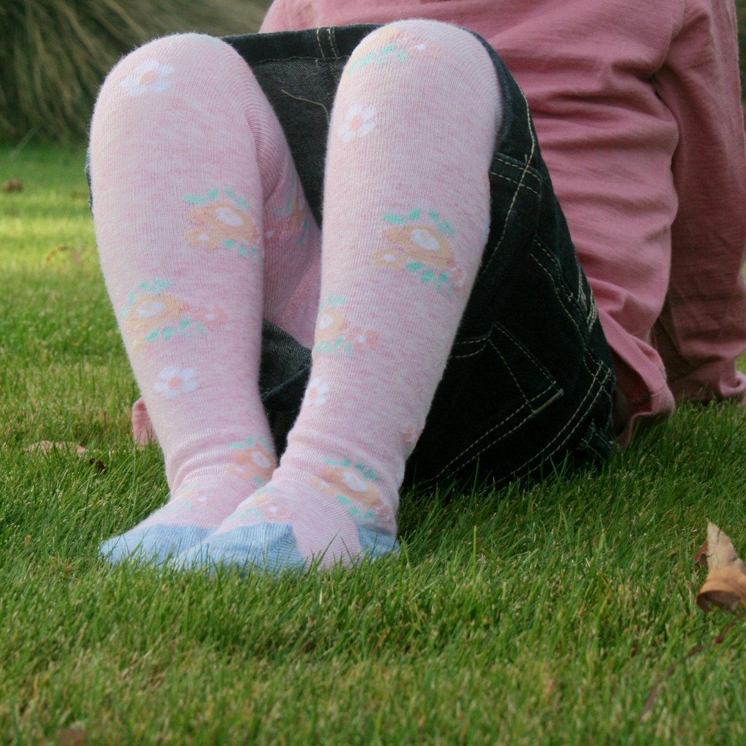 Cotton Tights - Soft Flower image 0