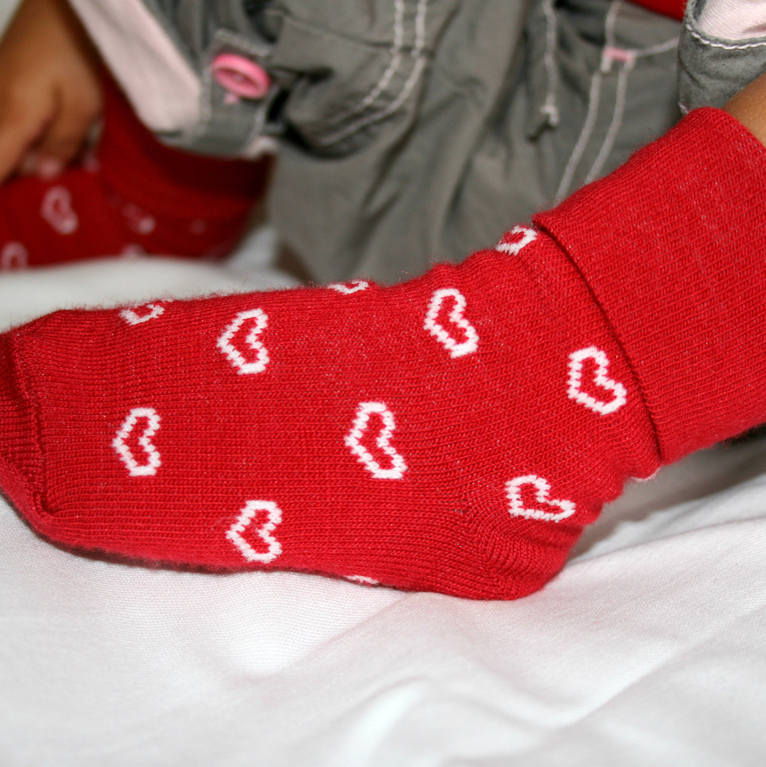 Merino Socks for Baby with Hearts image 1