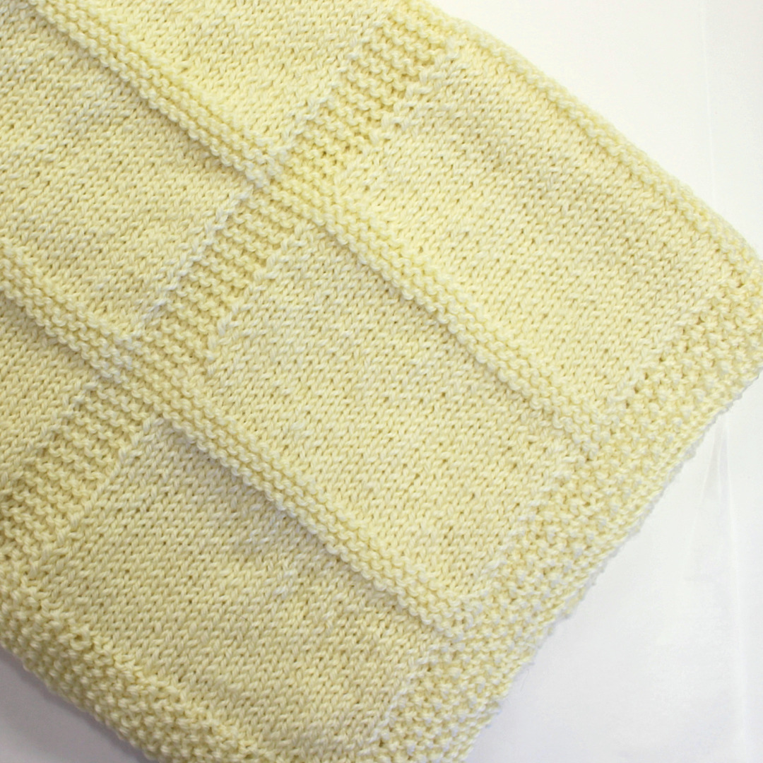 Knit a Wool Baby Blanket Kit -  pattern and 100% wool image 3