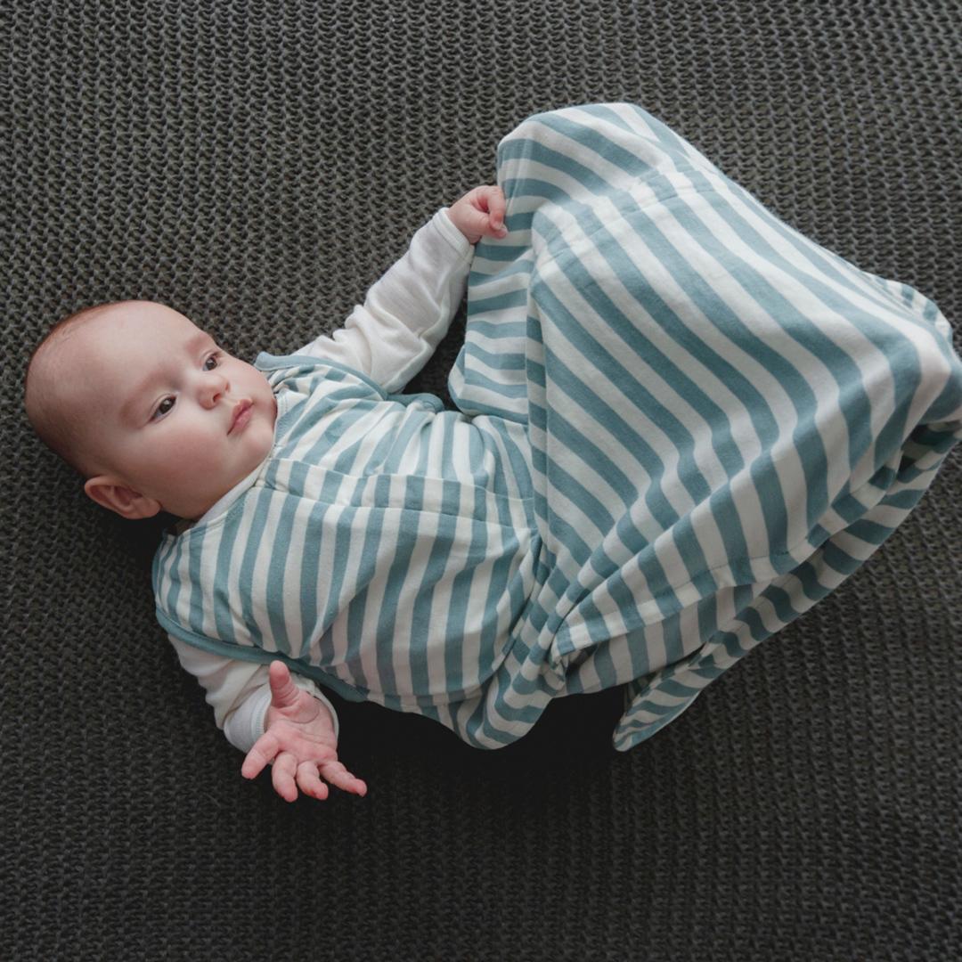 3 Seasons Merino Organic Cotton Sleeping Bag - 3-24 months. Tide image 0