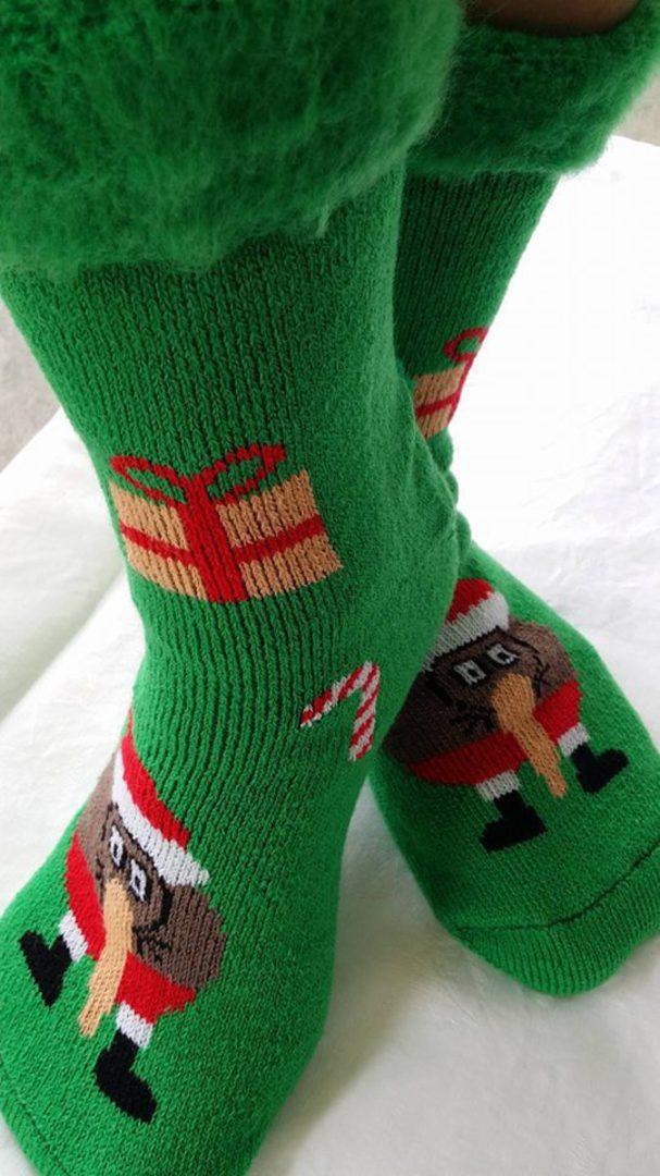 New Zealand Christmas Socks - Bed Socks Green or Black image 2
