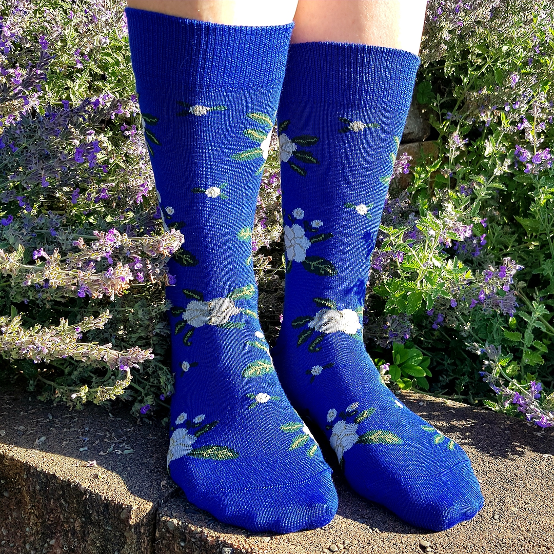 Cosy Merino Flower Socks - one size fits all. image 0