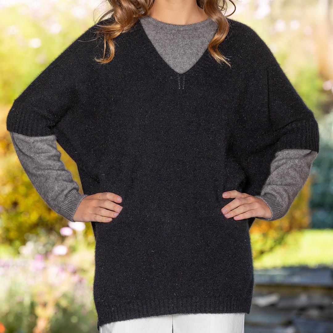 Possum Merino Women's Sleeved Cape - one size image 1