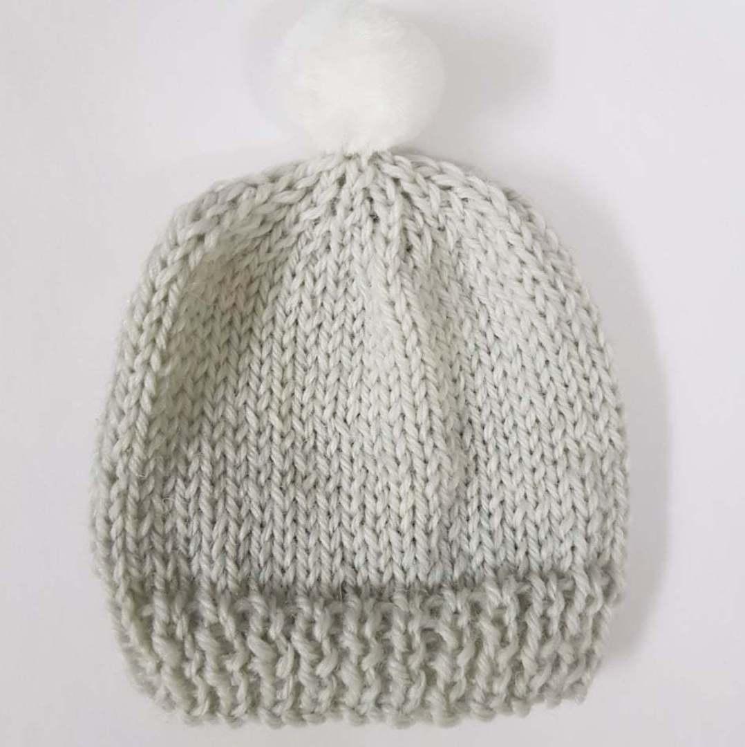 Merino Baby Hat with Pom Pom. image 2
