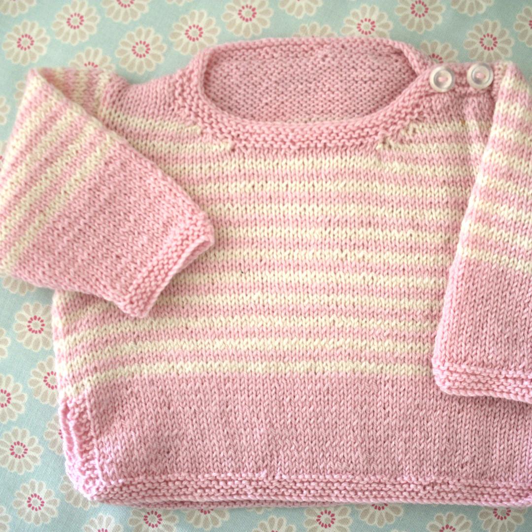 Merino Wool Baby Knit Jersey. 0 - 3 months. image 1