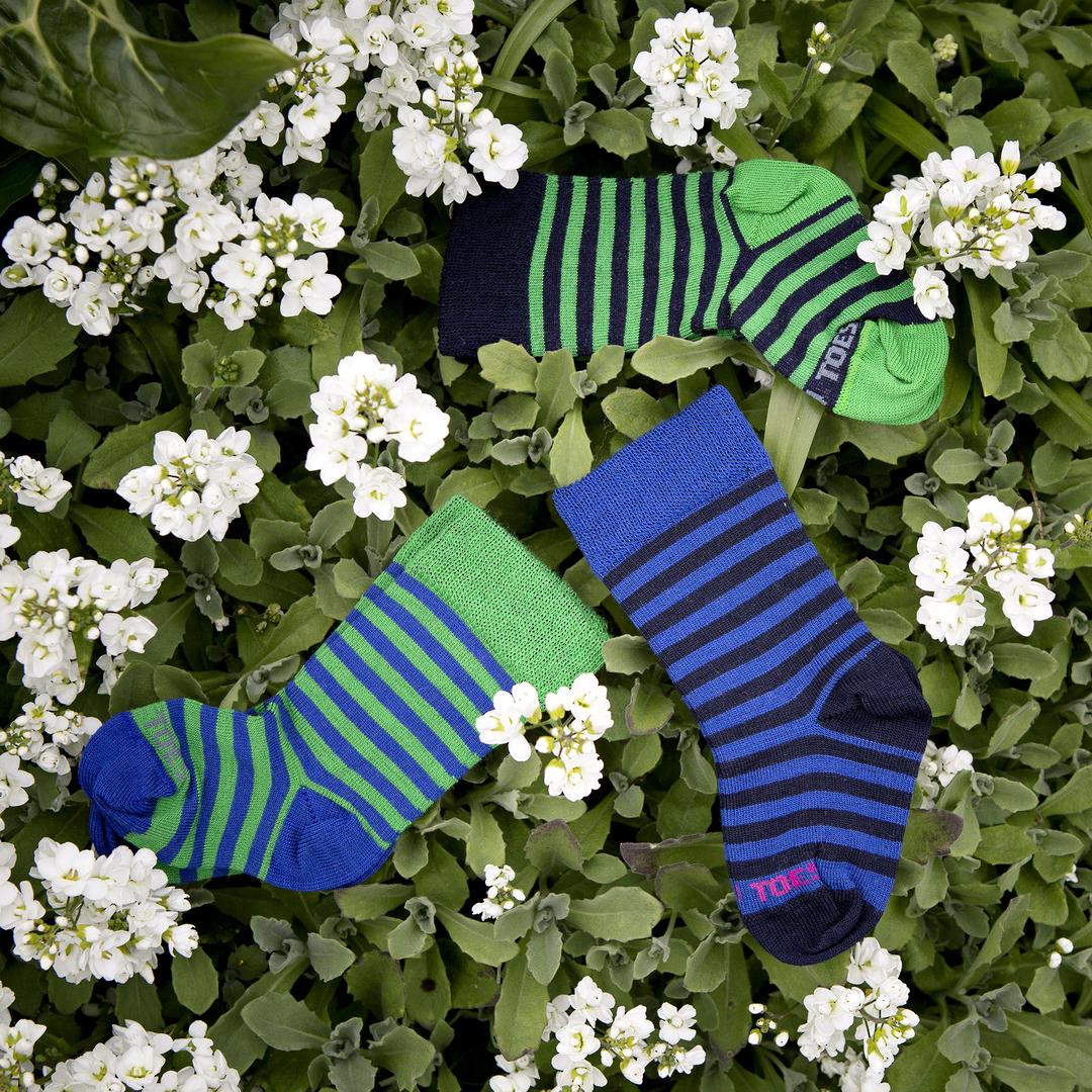 Long Merino Stripe Baby Socks image 0