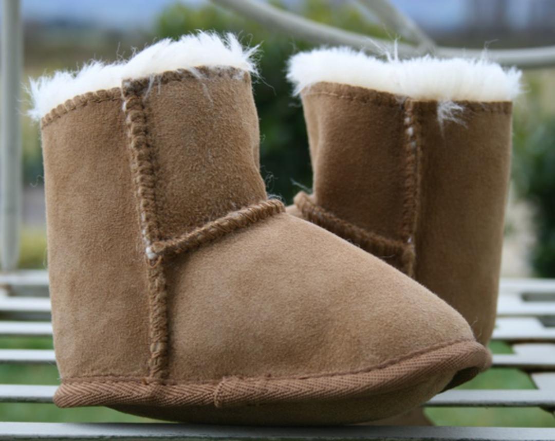 Baby Slippers - Walnut image 1