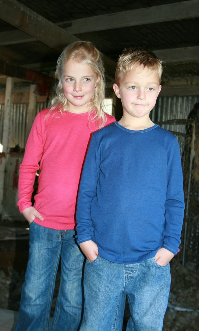 Kids Merino Long Sleeve Outerwear Top image 1