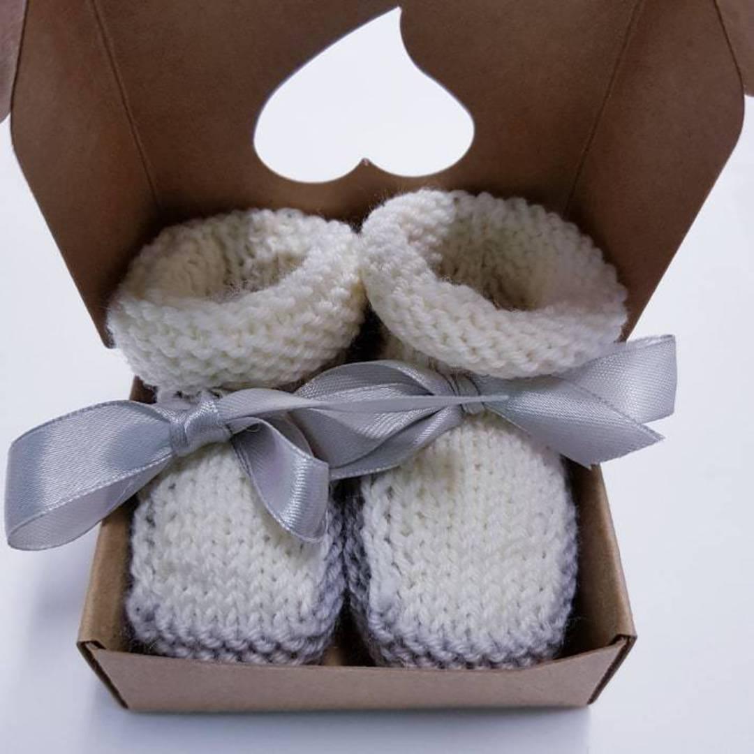 Merino Wool Booties - newborn to 6 months. image 0