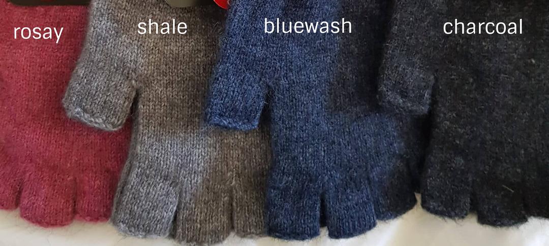 Possum Merino Fingerless Gloves image 1