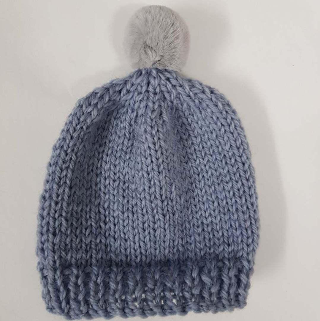 Merino Baby Hat with Pom Pom. image 1